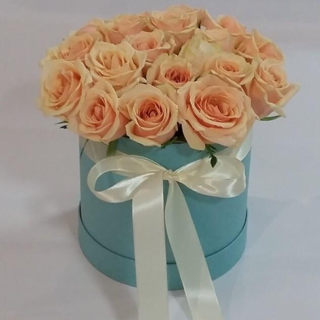 Модные розы в голубом