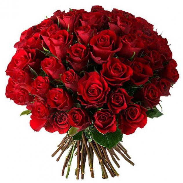 """Букет из 51 красной розы """"Аленький цветочек"""""""